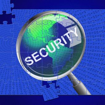 Free Stock Photo of Security Magnifier Represents Restricted Searches And Magnifying