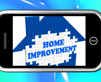 Free Stock Photo of Home Improvement On Smartphone Shows Hiring Contractor