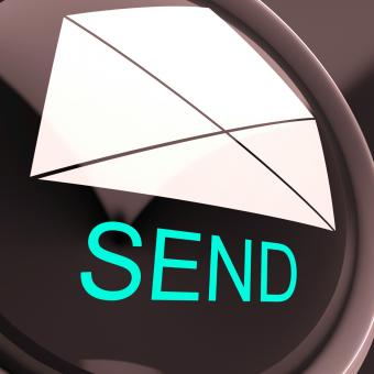 Free Stock Photo of Send Envelope Means Email Or Post To Recipient