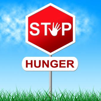 Free Stock Photo of Stop Hunger Represents Lack Of Food And Caution