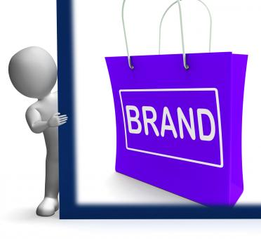 Free Stock Photo of Brand Shopping Sign Shows Branding Trademark Or Label