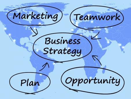 Free Stock Photo of Business Strategy Diagram Showing Teamwork And Plan