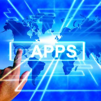 Free Stock Photo of Apps Map Displays Internet and Worldwide Applications
