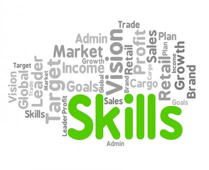 Free Stock Photo of Skills Word Represents Wordclouds Expertise And Abilities