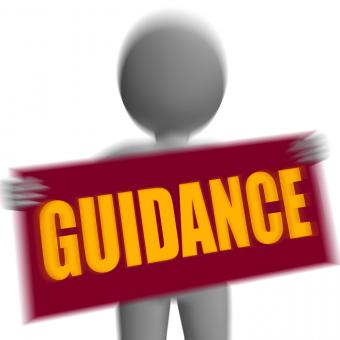 Free Stock Photo of Guidance Sign Character Displays Support And Assistance