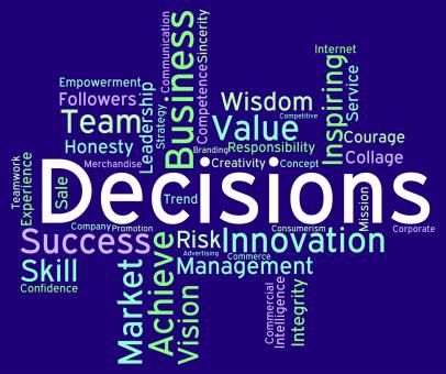 Free Stock Photo of Decision Words Represents Choosing Choices And Wordcloud