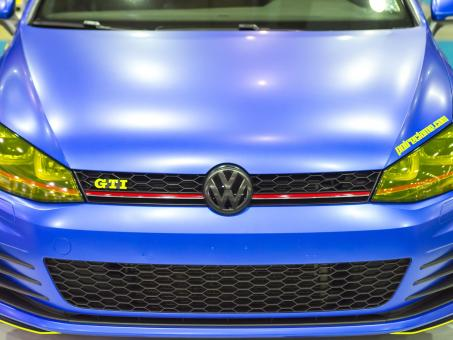 Free Stock Photo of Blue Volkswagen