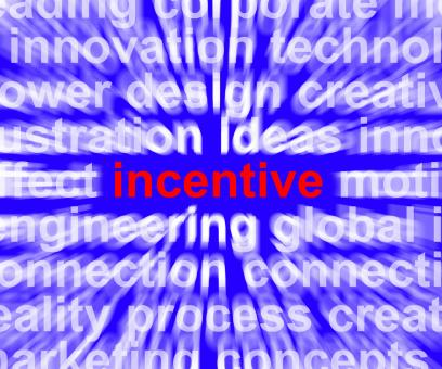 Free Stock Photo of Incentive Word Meaning Bonus Enticement Or Coercing