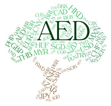 Free Stock Photo of Aed Currency Indicates United Arab Emirates And Currencies
