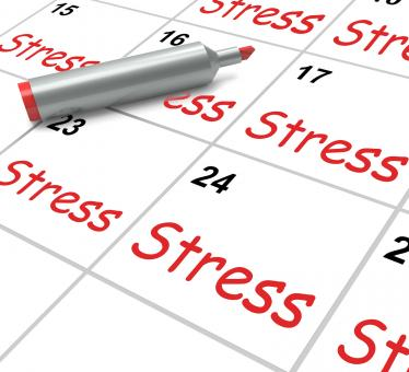 Free Stock Photo of Stress Calendar Means Pressured Tense And Anxious
