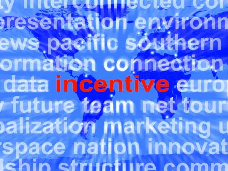 Free Stock Photo of Incentive Word Cloud Shows Bonus Inducement Reward