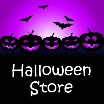 Free Stock Photo of Halloween Store Shows Buy It And Celebration