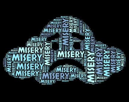 Free Stock Photo of Misery Word Represents Low Spirited And Depressed