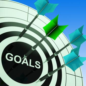 Free Stock Photo of Goals On Dartboard Showing Future Plans