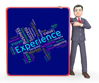 Free Stock Photo of Experience Words Indicates Know How And Competency