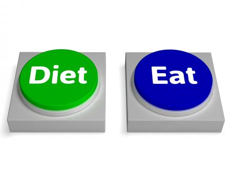 Free Stock Photo of Eat Diet Buttons Shows Eating And Dieting