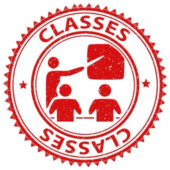 Free Stock Photo of Classes Stamp Indicates Lessons Classrooms And Education
