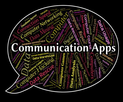 Free Stock Photo of Communication Apps Means Application Software And Internet