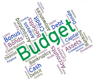 Free Stock Photo of Budget Words Represents Budgets Accounting And Financial