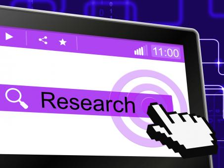 Free Stock Photo of Online Research Means World Wide Web And Analyse