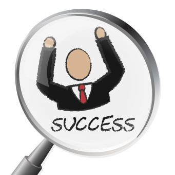 Free Stock Photo of Success Magnifier Indicates Triumph Succeed And Winning