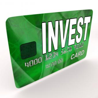 Free Stock Photo of Invest on Credit Debit Card Shows Investing Money