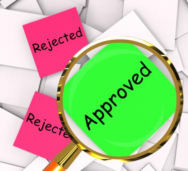 Free Stock Photo of Approved Rejected Post-It Papers Show Passed Or Denied