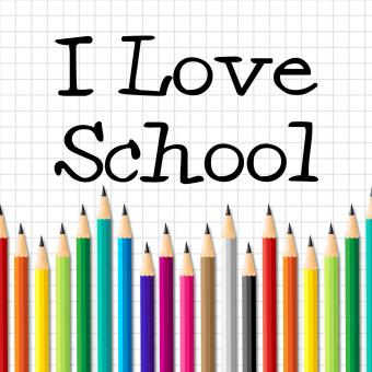 Free Stock Photo of I Love School Represents Education Training And Kid