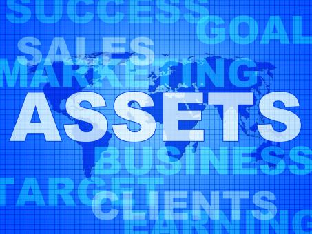 Free Stock Photo of Assets Words Shows Wealth Valuables And Goods