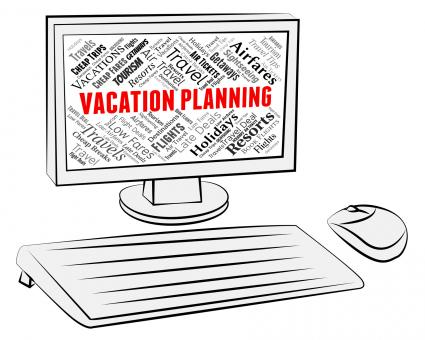 Free Stock Photo of Vacation Planning Indicates Pc Scheduler And Break