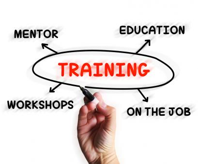 Free Stock Photo of Training Diagram Displays Mentorship Education And Job Preparation