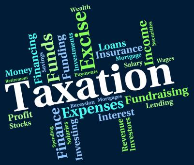 Free Stock Photo of Taxation Word Indicates Levy Taxes And Irs