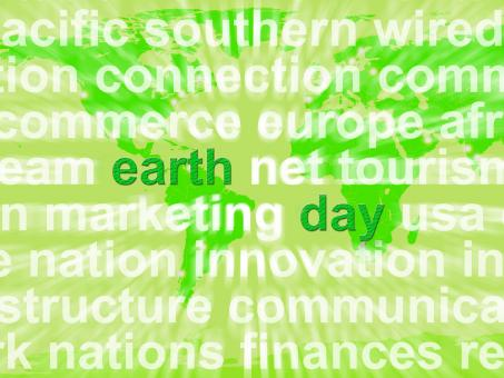 Free Stock Photo of Earth Day Words Showing Environmental Concern And Conservation