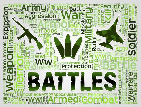 Free Stock Photo of Battles Words Represents Military Action And Affray