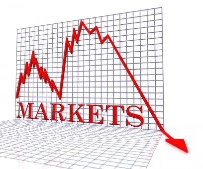 Free Stock Photo of Markets Graph Negative Indicates Investments Down 3d Rendering