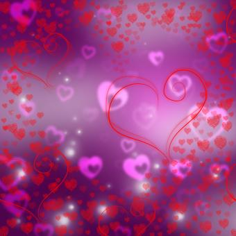 Free Stock Photo of Hearts Love Shows Valentines Day And Background