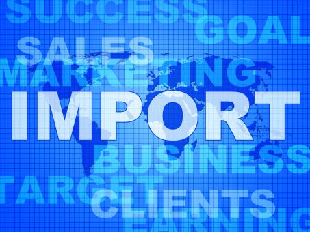 Free Stock Photo of Import Words Represents Buy Abroad And Cargo