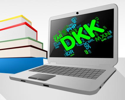 Free Stock Photo of Dkk Currency Means Worldwide Trading And Coinage