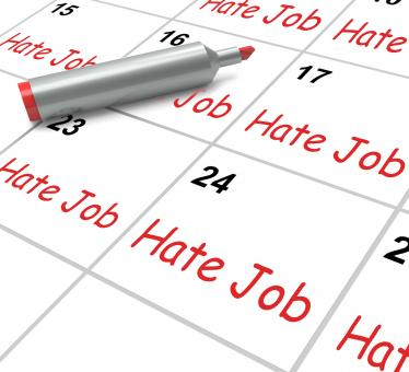 Free Stock Photo of Hate Job Calendar Means Miserable At Work