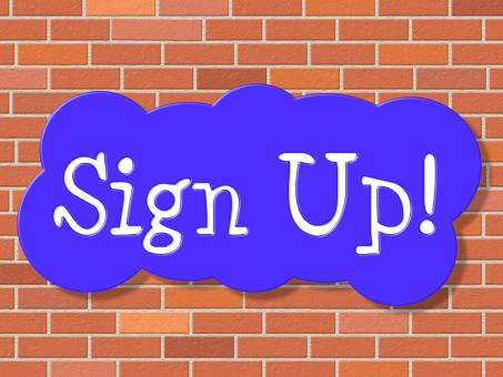 Free Stock Photo of Sign Up Indicates Registration Membership And Application
