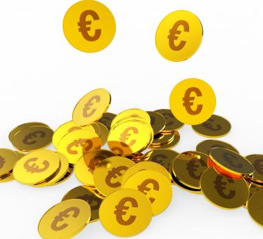Free Stock Photo of Euro Coins Represents Prosperity Euros And Financing