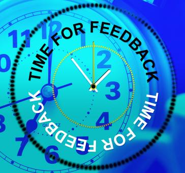 Free Stock Photo of Time For Feedback Shows Response Comment And Survey