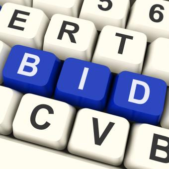 Free Stock Photo of Bid Keys Show Online Bidding Or Auction