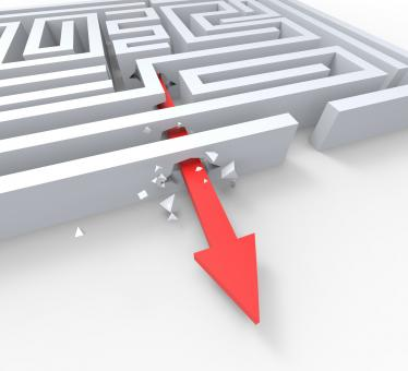 Free Stock Photo of Break Out Of Maze Shows Overcome Puzzle Exit