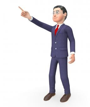 Free Stock Photo of Pointing Character Means Hand Up And Commercial 3d Rendering