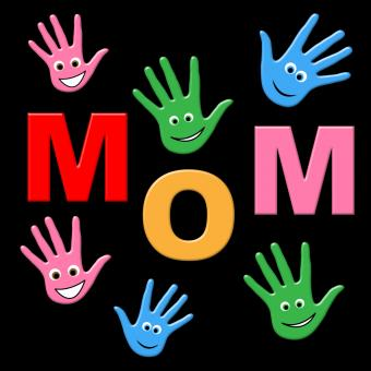 Free Stock Photo of Mom Handprints Shows Painted Mommy And Creativity