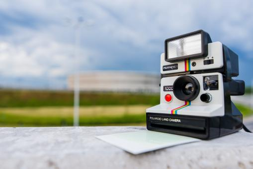 Free Stock Photo of Polaroid Land Camera