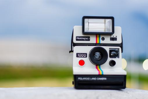 Free Stock Photo of Polaroid Camera