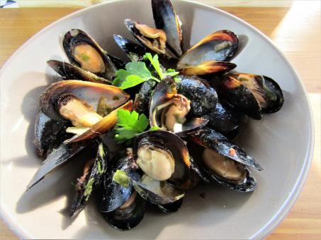 Free Stock Photo of Mussels