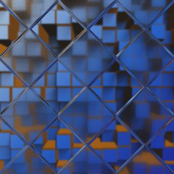 Free Stock Photo of Blue 3D Hex Background